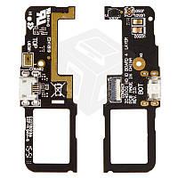 Шлейф для Asus ZenFone C (ZC451CG), коннектора зарядки, микрофона, с компонентами, оригинал