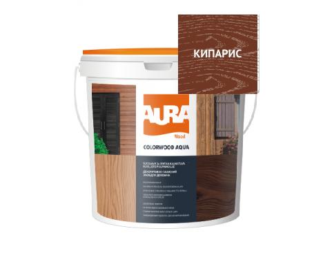 Лазурь-лак алкидный AURA COLOR WOOD AQUA для древесины кипарис 0,75л