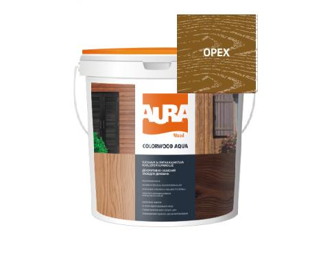 Лазурь-лак алкидный AURA COLOR WOOD AQUA для древесины орех 0,75л