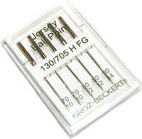 Иглы швейные Groz-Beckert (№70 №80 №90) для трикотажа (5шт), к бытовым швейным машинам