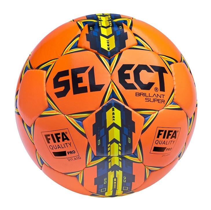 Мяч футбольный Select Brillant Super FIFA, оранжевый, р. 5, не ламинированный