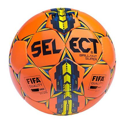 Мяч футбольный SELECT Brillant Super FIFA оранж, фото 2