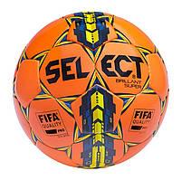 Мяч футбольный Select Brillant Super FIFA, оранжевый, р. 5, не ламинированный, фото 1