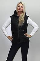 Стильная женская жилетка КР 2 черная 54-74 размеры