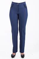 Классические женские брюки Мерлин черного/синего цвета размеры :48 50 52 54 56 58 60 62 64 (О.М.Д.)