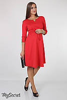 Платье Sunny для будущих и кормящих мам (красный)