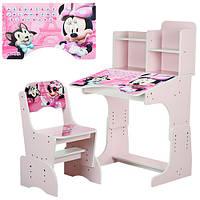 Парта детская Minnie W 2071-6-2 розовая