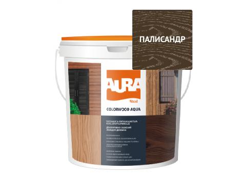 Лазурь-лак алкидный AURA COLOR WOOD AQUA для древесины полисандр 0,75л