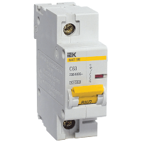 Автоматичний вимикач ВА47-100 1P 100 A C IEK