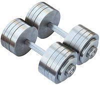 Гантели 2 по 30 кг разборные металл (металеві гантелі розбірні наборні наборные для дома металлические)