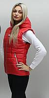 Стильная женская жилетка КР 2 красная 54-74 размеры