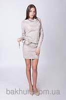 Платье с хомутом лён - 3053