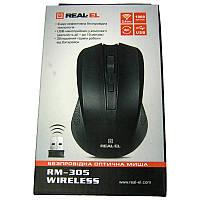 Беспроводная мышка REAL-EL RX-305 (black),(Акция!!!) USB,1000dpi