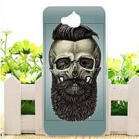 Эксклюзивный чехол для Huawei Y6 Pro с рисунком Череп с бородой