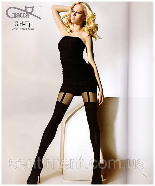 Колготки Gatta Girl Up 01 имитация чулка