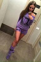 Женская пижама тройка флис I LOVE