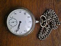 Швейцарские карманные часы Omega серебро,19 век