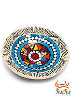Декоративная тарелка с мозаикой 19 см