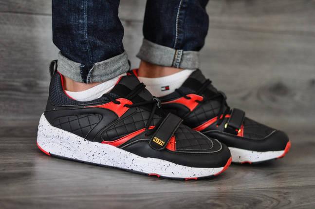 Кроссовки Puma черные с красным, стильные кроссовки, фото 2
