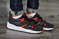 Кроссовки Puma черные с красным, стильные кроссовки