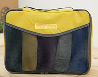 Дорожный органайзер для белья Travel Check (голубой, желтый)
