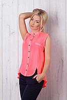 Легкая блуза розовый неон