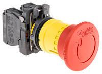 XB5AS8445  Кнопка аварийная ГРИБОК d 40мм 1НО+1НЗ возврат поворотом