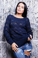 Очень изящный свитерок ажурной вязки