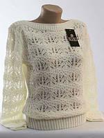 Ажурный свитер с длинным рукавом
