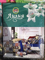 Комплект двухспального постельного белья с HD эффектом Лилия Двуспальный