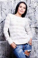 Женский свитер красивой ажурной вязки