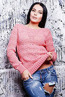 Нежно -розовый весенний свитер