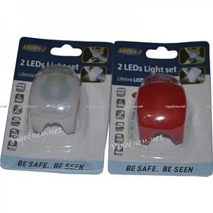 Мигалка на два светодиода XR008-2 Белый свет, фото 2