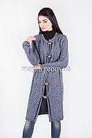 Шикарный вязаный кардиган-пальто Джинс размер 48