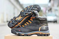 Мужские зимние кожаные ботинки Merell black, фото 1