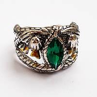 Перстень с зеленым кристаллом. Размеры 18, 19,20.