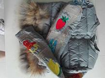 Женская курточка карманы на меху енота  , фото 3