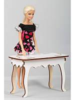 Деревянный стол для барби 017