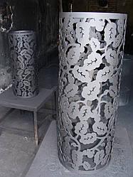 Декор дымохода - Декоративная сетка для камней (кожух на трубу банной печи Каменки компании ОГОНЬ)