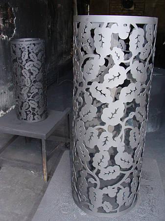Декор дымохода - Декоративная сетка для камней (кожух на трубу банной печи Каменки компании ОГОНЬ), фото 2