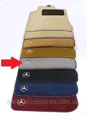 Коврики велюровые серые Mercedes CL CL-Class W140 C140 S-Class купе 1991-2000 новые оригинальные