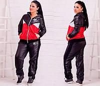 Женский дутый спортивный костюм Adidas. Большие размеры.