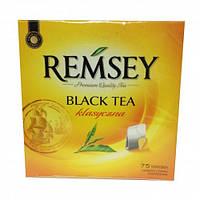 Чай чёрный в пакетиках REMSEY 150г.