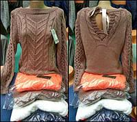 Свитер модной вязки