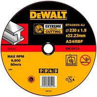 Круг отрезной по металлу DeWalt Extreme 230x22.2х1.9 мм DT43600