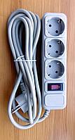 Сетевой фильтр Logan SFG3-3, 3м, 3 розетки, Grey
