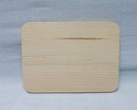 Основа для браширования. Панно-ключница прямоугольное большое, сосна, 32х22см