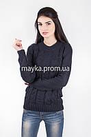 Свитер женский вязаный Palvira темно-синий 44 pal 5078