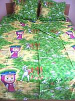 """Детский комплект постельного белья """" Маша и Медведь""""."""