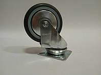 Поворотное аппаратное колесо с серым протектором JD BD-серии, фото 1
